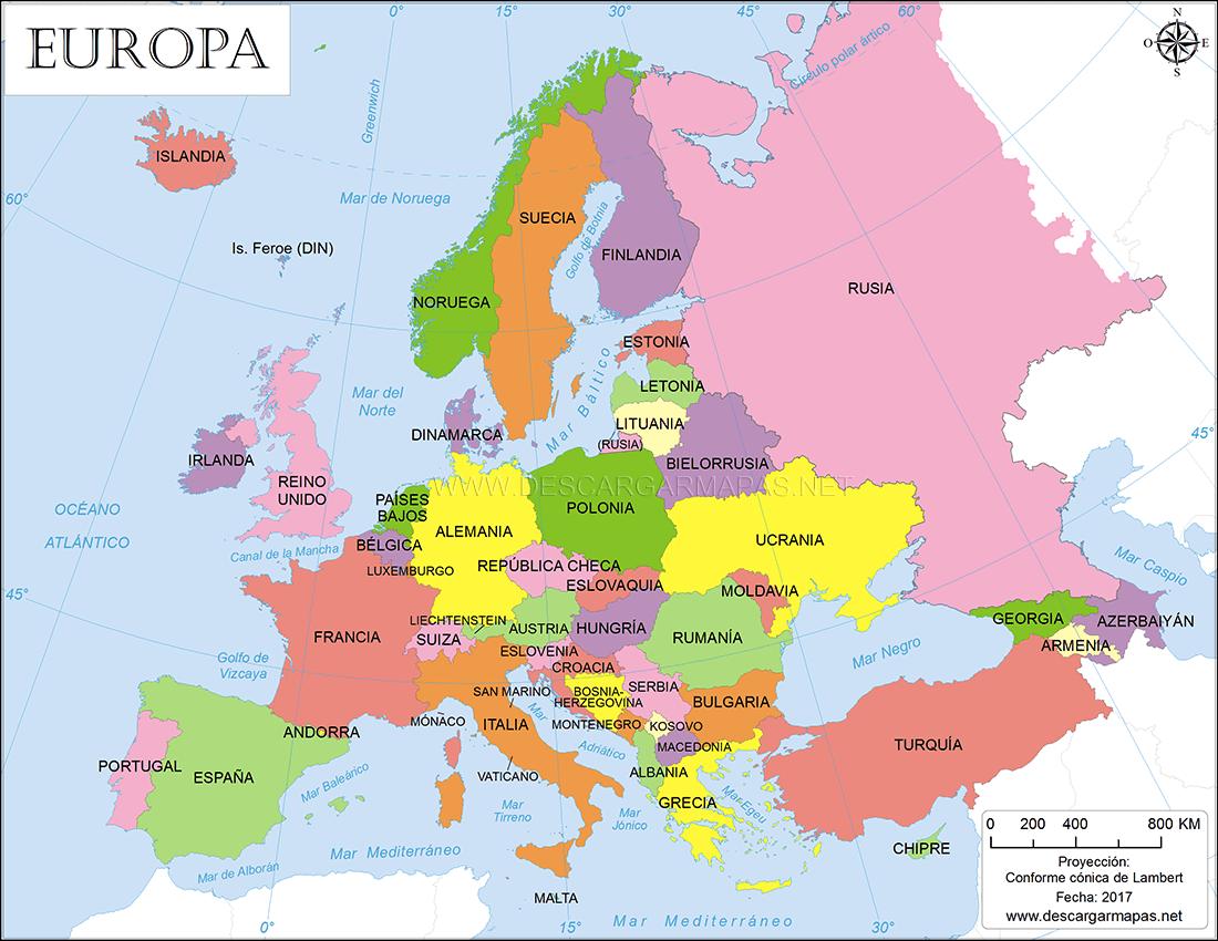 Mapas de Europa   DESCARGAR MAPAS