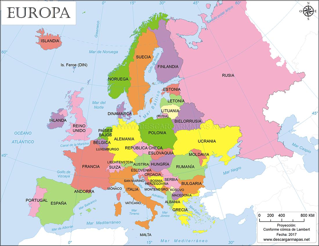 mapa europa Mapa político de Europa | DESCARGAR MAPAS mapa europa
